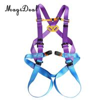 MagiDeal 1Pc Adjustable Full Body Rock Climbing Rappelling Safety Harness Equip Purple