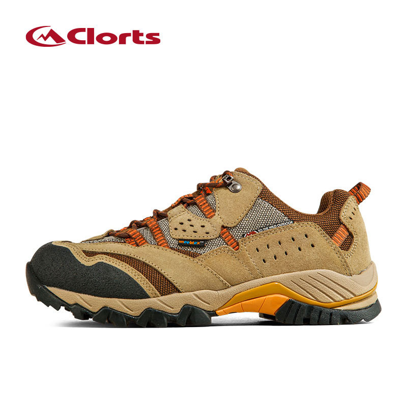 Clorts Waterproof Hiking Shoes for Men Suede Breathable Sports Sneakers man Outdoor Shoes Waterproof Trekking Shoes for Climbing clorts women trekking shoes outdoor hiking lace up shoes waterproof suede hiking shoes female breathable climbing shoes hkl 828d