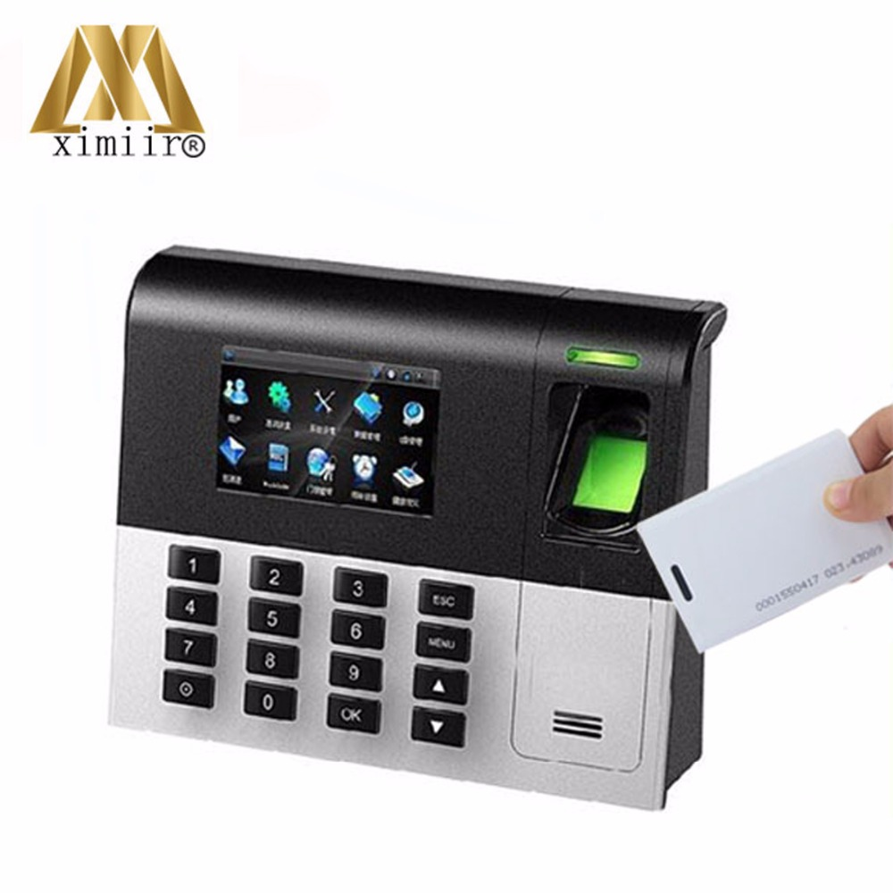 High Tech Latest Fingerprint Reader UA200 TCP/IP Free Software 125KHz RFID Card Reader Employee Time Attendance