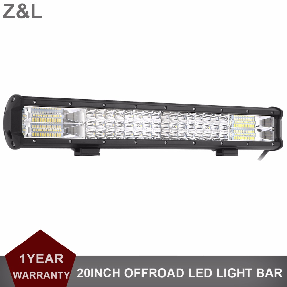 20INCH TRI-ROW LED OFFROAD WORK LIGHT BAR 288W COMBO DRIVING LAMP 12V 24V CAR TRUCK WAGON VAN CAMPER PICKUP ATV UTE 4WD HEADLAMP
