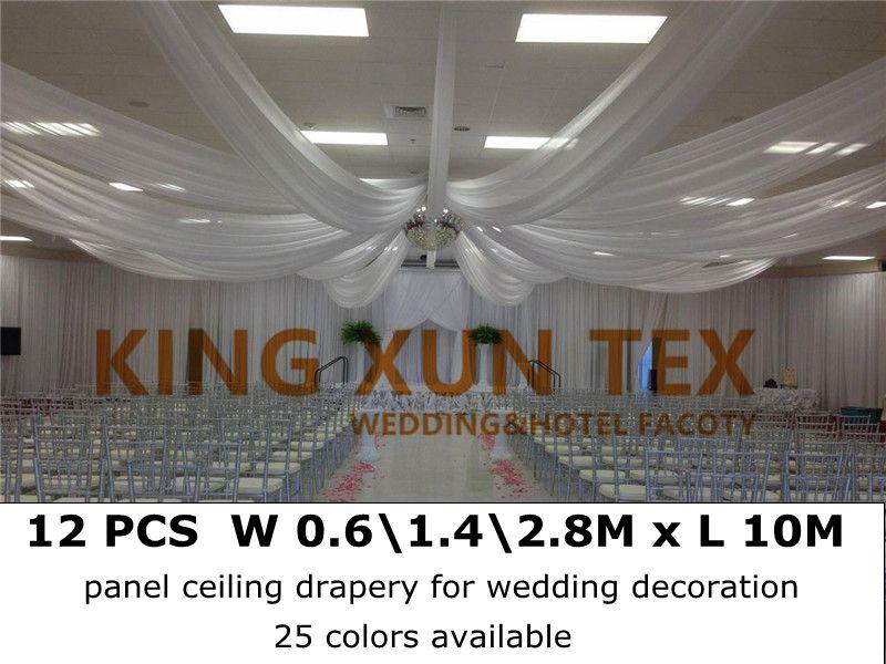 Panel Ceiling Drapes Roof Drape Fabric Canopy Drapery Wedding