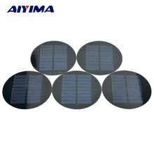 AIYIMA 5Pcs Solar Panels PET Poly Solar Panel 88.5MM 4.5V 100mA DIY Solar Battery Charger Painel solars