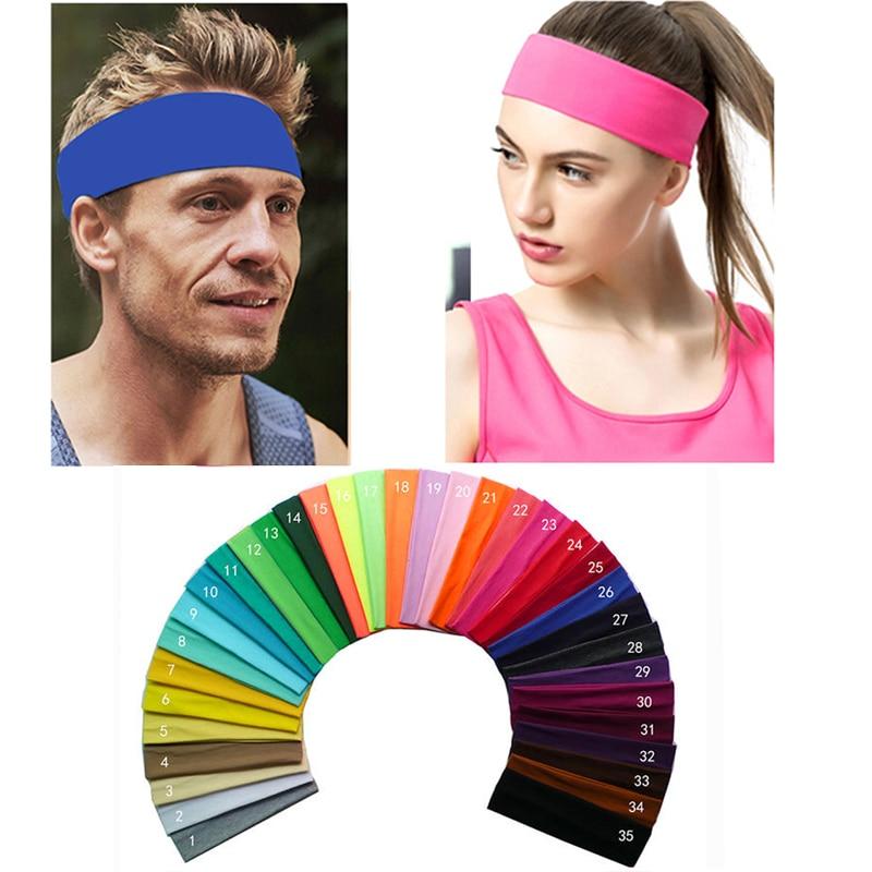 2 inch Solid Cotton hoofdband Sports Softball zweetband haarband Bandage op hoofd tulband Bandana elastisch