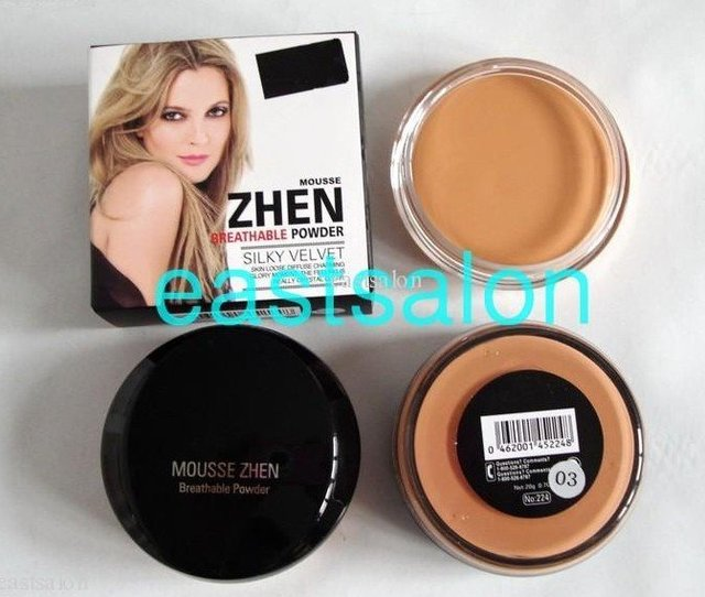 Wholesale Free Shipping Mousse Zhen Breathable Powder Concealer ( 40 pcs/lot) 3 colors