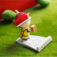 Forbidden City Souvenir Qing Dynasty Emperors Anime Action Figures Mini Resin Doll Mobile Phone Support IPAD