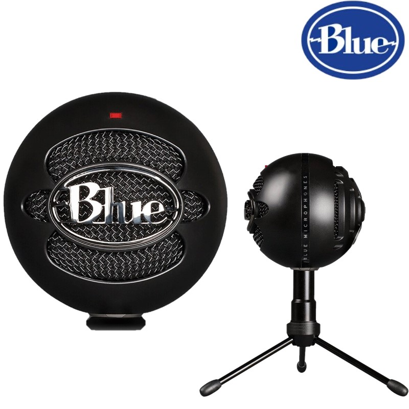 100 Original Blue Snowball ICE Condenser Microphone for Computer Cardioid Black color