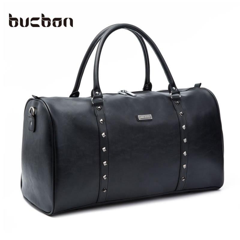 ФОТО 33L/24L Large Capacity Female Male Classic Soft Leather Zip Fitness Gym Bag Black Designer Shoulder Travel Bag PU Leather HAB127