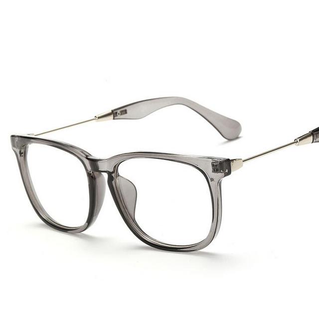 Marcos de Anteojos ópticos Marcos De Cristal de Las Mujeres de Los Hombres Square Gafas Marcos Gafas Con Lentes Transparentes