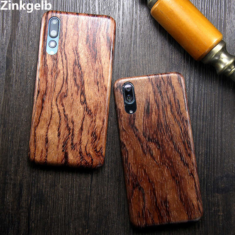 For Huawei P20 Pro Case Cover Luxury Cute Slim Hard Natural Wooden Protection Armor Phone Case for Huawei P20 Back Cover Funda