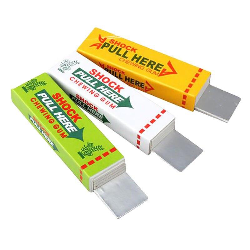 Drôle Astuces Jouet Pour Enfants Sécurité Trick Joke Jouet Chewing Gum Pull Tête Pratique Blagues Shocker Aniti-stress Fun électrique Jouet
