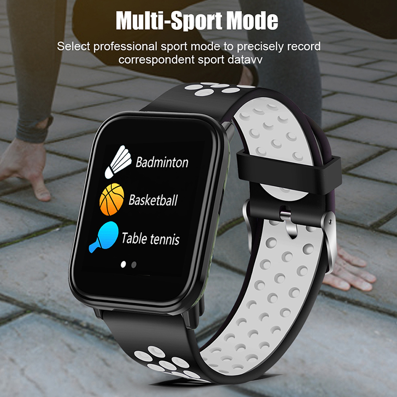 Sport Smart Bracelet IP67 Waterproof Watch Blood Pressure Heart Rate Monitor HD full screen touch screen Watches For Android ios in Smart Wristbands from Consumer Electronics