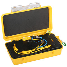 Singlemode Fiber Optical OTDR Launch Cable Box for 2KM OTDR Dead Zone Eliminator used with Fiber Optical OTDR цена