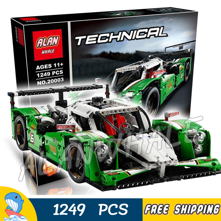 1249pcs 2in1 New Technic Motorized 24 Hours Race Car SUV Racer 20003 DIY Model Building Blocks Toys Bricks Compatible With lego china brand 3364 educational toys for children diy building blocks 42039 technic 24 hours race car compatible with lego