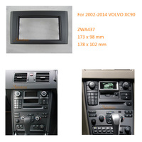 Car Radio Refitting Outter Frame for VOLVO XC90 2002 2014 facia frame panel dash 2 DIN mount kit adapter trim Bezel facia