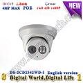 DS-2CD2342WD-I 4 megapixel  IP Camera POE English Language IR Dome CCTV Camera  Outdoor security camera 2.8/4/6mm lens kamera