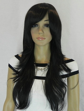 Parrucca perruque 511 + + + Recta larga peluca de Pelo Negro peluca Traje Etapa Televisión pelucas peruca pelo de la reina de las mujeres