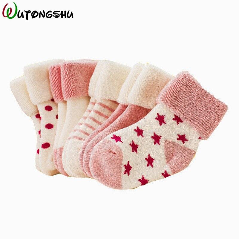5 Pairs/Lot Christmas Baby Girls Socks Newborn Baby Boy Socks Winter Meias Para Bebe Calcetines Calzini Antiscivolo  Ползунки