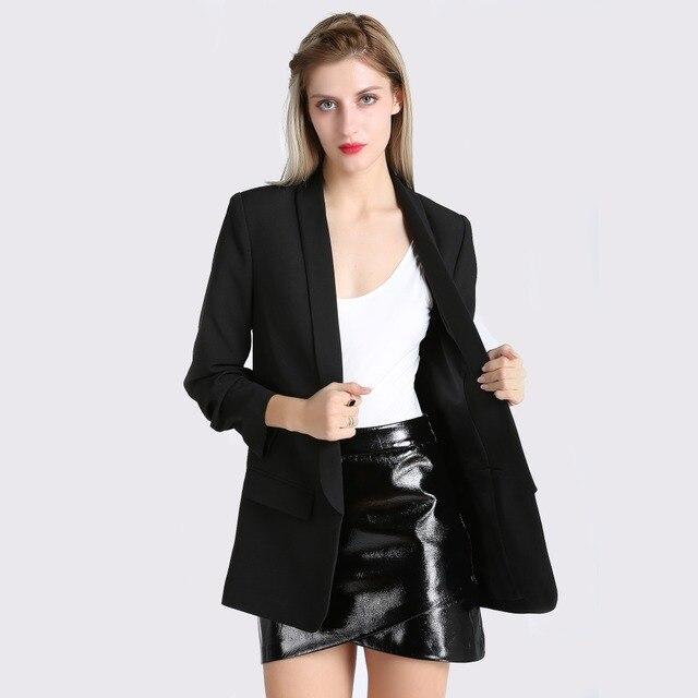 Fashion Autumn Women Blazers and Jackets Work Office Lady Suit Slim White Black None Button Business female blazer Coat Zevrez 1