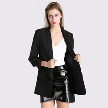 Fashion Autumn Women Blazers and Jackets Work Office Lady Suit Slim White Black None Button Business female blazer Coat Talever