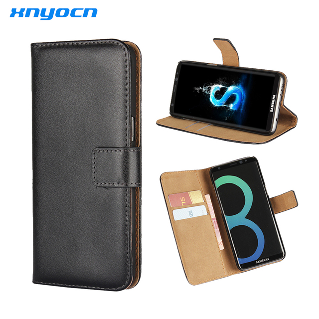buy online f9691 431bf US $6.45 15% OFF|Xnyocn For Samsung Galaxy S5 S6 S7 Edge S8 Plus Case S  View Flip Cover Folio Luxury leather case For samsung Galaxy S5-in Flip  Cases ...
