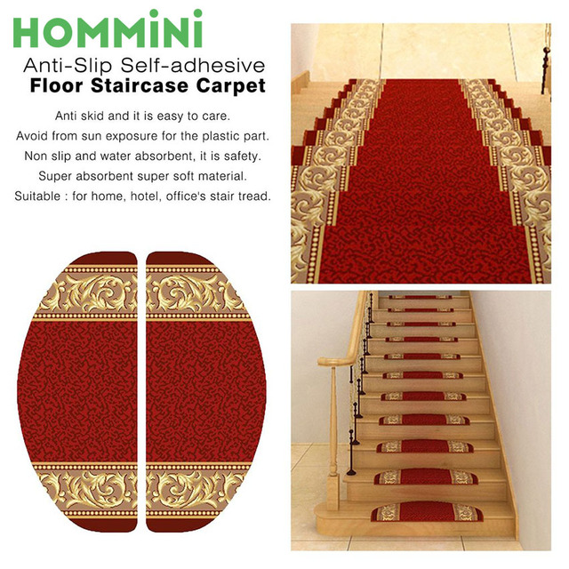 hommini top selling nylon anti slip self adhesive staircase carpet home hotel decoration stair