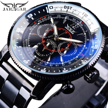 Jaragar Brand Mens Watches Automatic Mechanical Watch 6 Hands Date Sport Clock Stainless Steel Business Wristwatch Relojes Homme