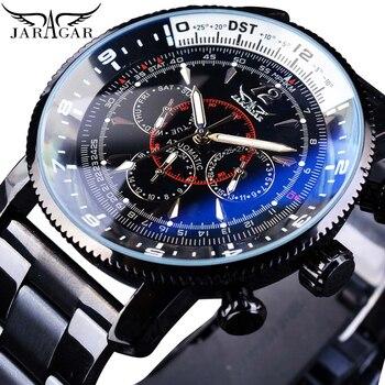 цена на Jaragar Brand Mens Watches Automatic Mechanical Watch 6 Hands Date Sport Clock Stainless Steel Business Wristwatch Relojes Homme