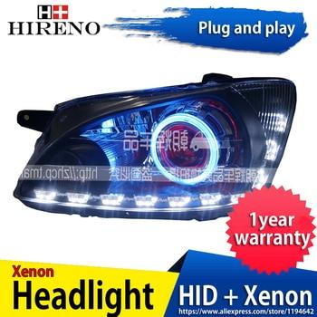 Car custom Modified Xenon Headlamp for Chevrolet Sail 2007 Headlights Assembly Car styling Angel Lens HID 2pcs