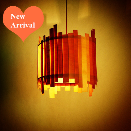 2016 modern creative Ply-Wood art Chandelier Handmade E27 LED lamp indoor led light for cafe&stairs&living room&corridor BT272