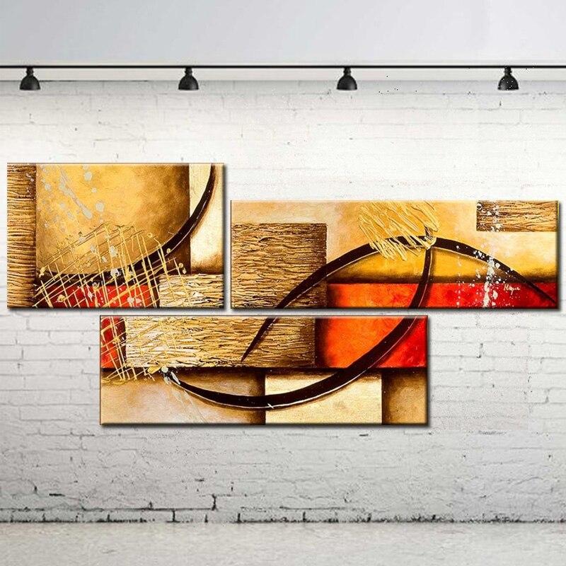 Multi Кусок 3 панели Wall Art Абстрактная живопись Современная живопись маслом на холсте предметы интерьера гостиной фотографии расписанную