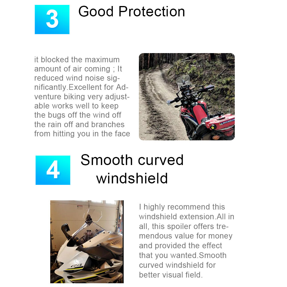 Image 5 - Wind Deflector Viento Moto Universal Windshield Motorcycle Windscreen Extension for Triumph Honda Kawasaki Suzuki Benelli Yamaha-in Windscreens & Wind Deflectors from Automobiles & Motorcycles