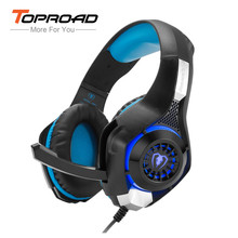 TOPROAD GM-1 Gaming Headphone Xbox One s PS4 Pro Headphones Stereo LED Backlit Gamer Headset with Mic for PC Tablet Cellphone