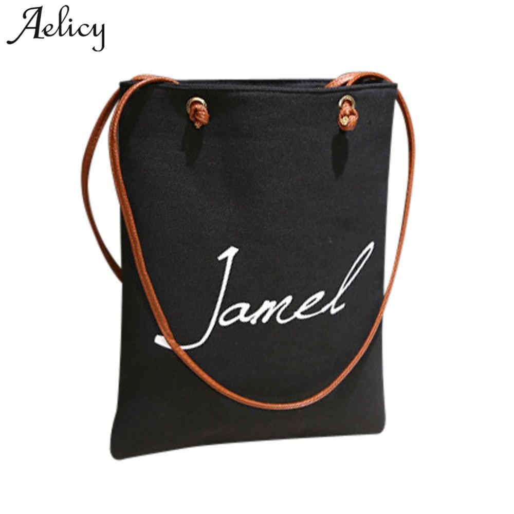 Famous  Canvas Shoulder Bag Female Canvas Tote Bags Casual Bolsa Feminina Shoulder Bag Vintage
