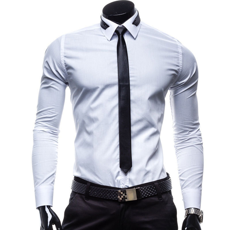 Shirt tie new men shirt 2016 fashion design white mens for Shirt and tie for men
