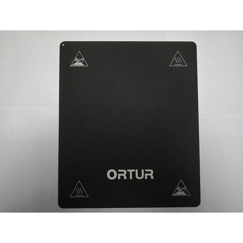 260*310 MM impression 3D construire Surface tampon magnétique + en acier au carbone plate-forme autocollant impression lit bande feuille pour Ortur-4 imprimante 3D