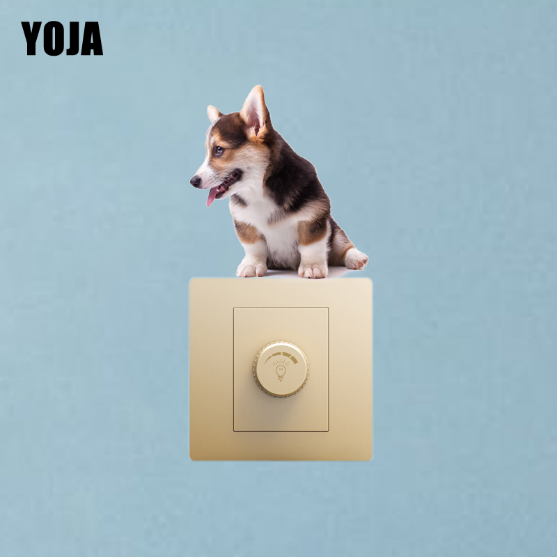 Home Decor Home & Garden Yoja A Corgi With Its Tongue Sticking Out Room Switch Decal Decor Wall Sticker High-quality 8ss0255 Do You Want To Buy Some Chinese Native Produce?