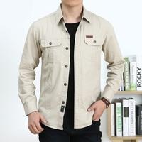 High Quality TAIZIQI Regular Youth Shirts Good Version Cotton Comfortable Casual Cargo Shirt Mens 1388