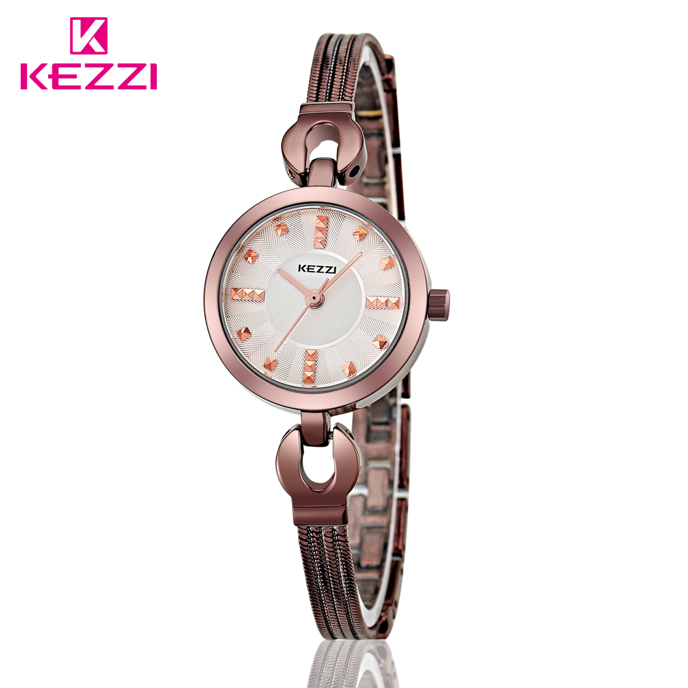 100% KEZZI Brand Tungsten Steel Watches For Gilrs Fashion Four Thin Spring Quartz WristWatch Luxury Exquisite Female Watches