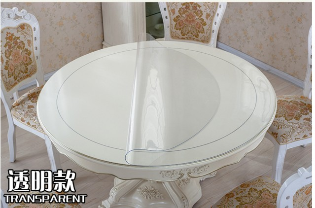 Waterproof Pvc Soft Glass Round Table Cloth Round