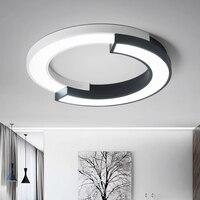 Современные светодио дный светодиодные потолочные светильники для гостиной спальни затемнения с дистанционным простым светодио дный свет