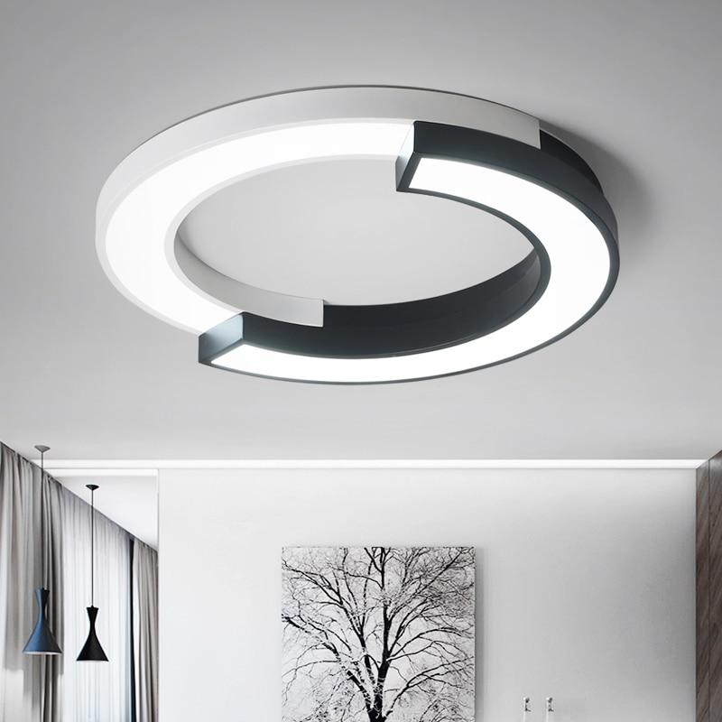 Moderne Led Deckenleuchten Für Wohnzimmer Schlafzimmer Dimmbar Mit  Fernbedienung Einfache Led Lampen Hause Dekoration Küche AC110V 220V