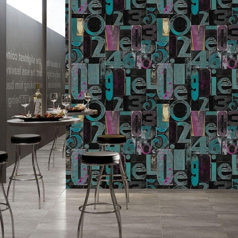 3D character alphabet waterproof wallpaper modern and styliss