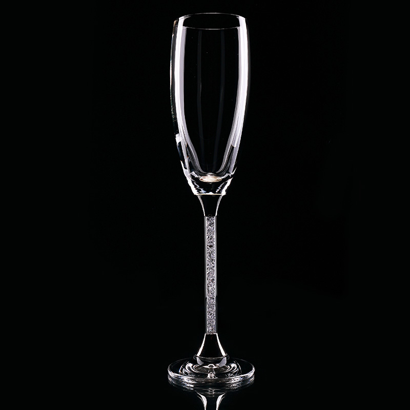 Top Grade Champagne Glass Cups Crystal Flutes 2pcs Wedding