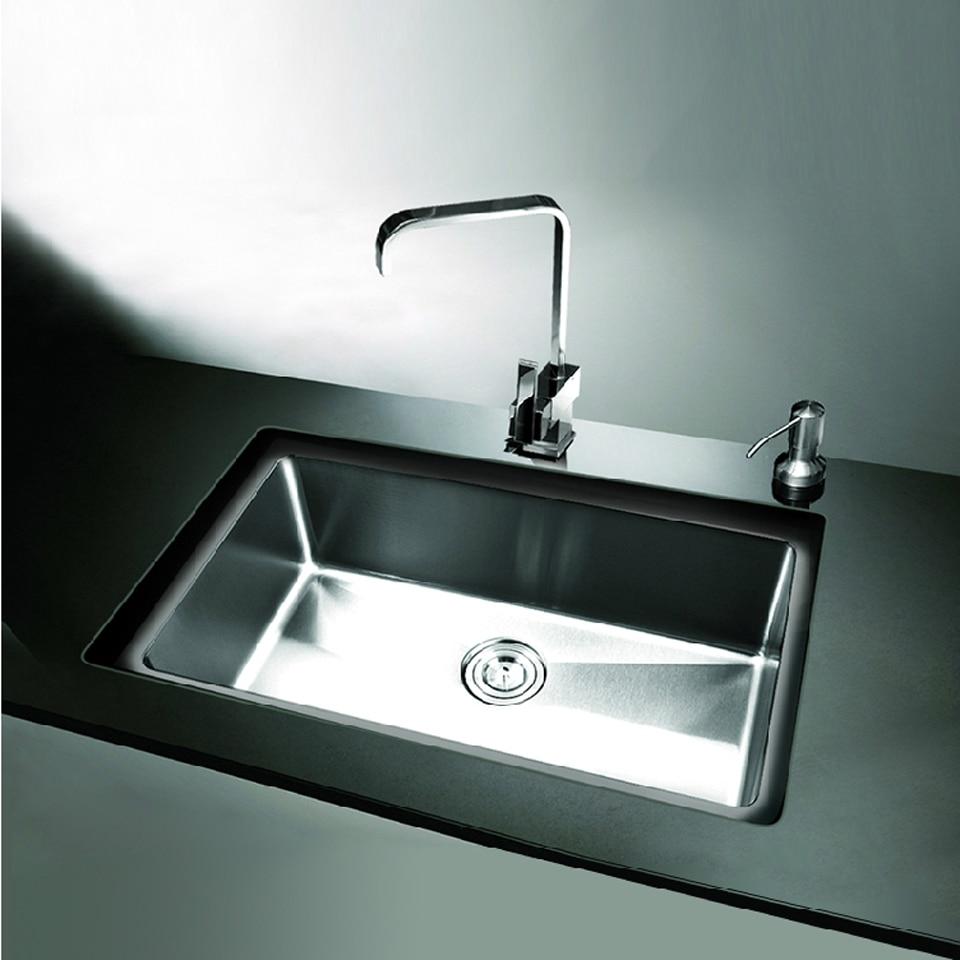 304 Stainless Steel Kitchen Sink Single Holes Under Mount