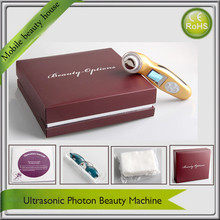 LCD Display Photonrejuvenation 3MHZ Ultrasonic 3 Colors Led Light Therapy Microcurrent Face Lift Beauty Devices