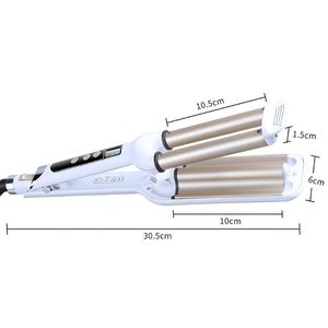 Image 5 - Fast Pro Ceramic Triple Barrel Hair Wave Waver Curling Iron Curler Styling Tools Hair Style Accessories Volume Hair Curler EU
