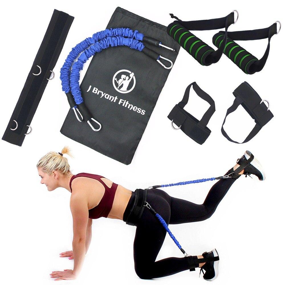 Booty Bands Set Mit Verstellbaren Gürtel Für Fitness Beine Butt Gesäß Muscle Workout Geschwindigkeit Agilität Ausbildung Vertikale Jump Trainer Zur Verbesserung Der Durchblutung