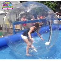 Inflatable Bubble Water Ball,Walk On Inflatable Swimming Pool Watering Ball Inflatable Toys,Pool Float Water Rolling Ball