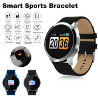 Q8 Smartwatch IP67 Touch Clock Smart Watch Men OLED Color Screen Fitness Tracker Heart Rate Monitor Women Watch For Android IOS