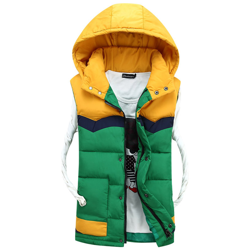 2015 New Man of the coming Winter fashionable casual Vest collars Hooded fur Vest Men 3 colors